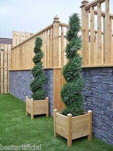 2-Best-Artificial-5ft-150cm-Topiary-Cedar-Spiral-Outdoor-Trees-Conifer-alt-Bay