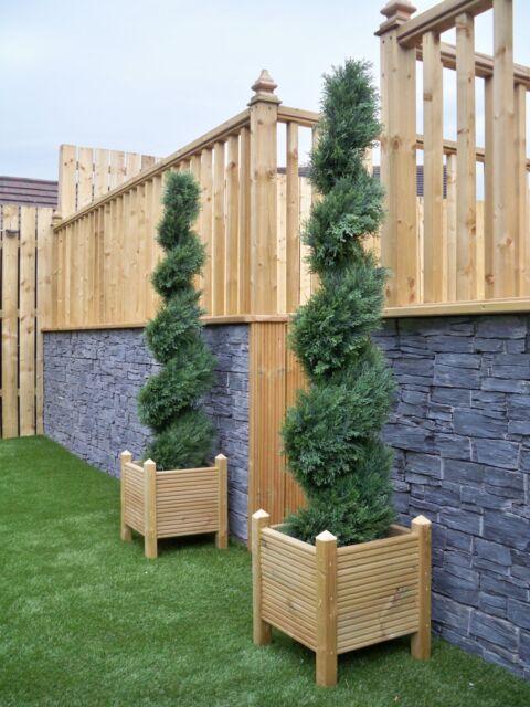 2 Best Artificial 5ft 150cm Topiary Cedar Spiral Outdoor Trees Conifer alt Bay