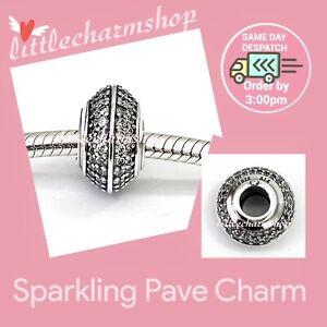 New-Authentic-Genuine-PANDORA-Silver-Sparkling-Pave-Charm-798066CZ-RETIRED