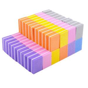 20pcs/lot Double-sided Mini Nail File Blocks Sponge Nail Polish Tool ...