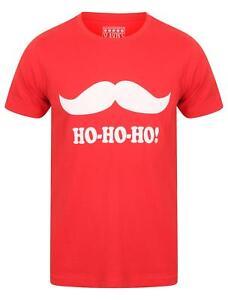 Seasons-Greetings-Mens-Ho-ho-ho-Moustache-Christmas-Xmas-T-Shirt
