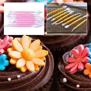 DIY 3D Flower Decorating Tools Baking Sugarcraft Fondant Cake Mold Embosser