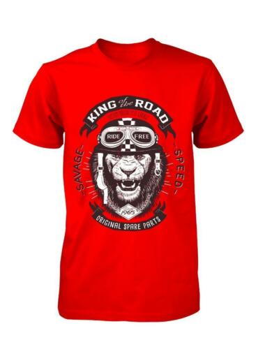 BNWT KING OF THE ROAD MOTORCYCLE LION ADULT T-SHIRT S-XXL