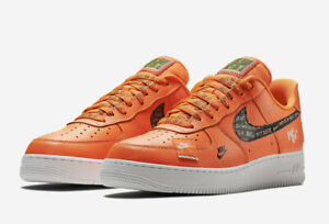 Details about Nike Air Force 1 Low PRM Total Orange Just Do it AR7719 800 Men's and GS JDI