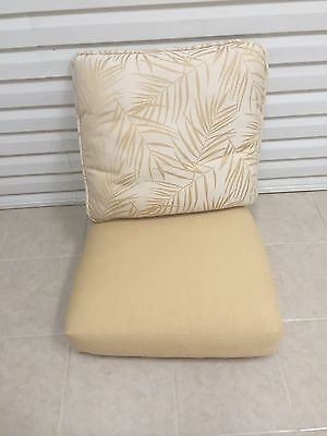 2 Pc Frontgate Monaco Patio Chair Outdoor Cushions 25x25