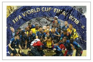 FRANCE TEAM WORLD CUP WINNERS FINAL 2018 SOCCER SIGNED AUTOGRAPH PHOTO PRINT