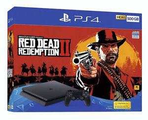 Sony-PlayStation-4-500GB-Rosso-Redemption-2-console-Dead-Bundle-Nero-Corvino