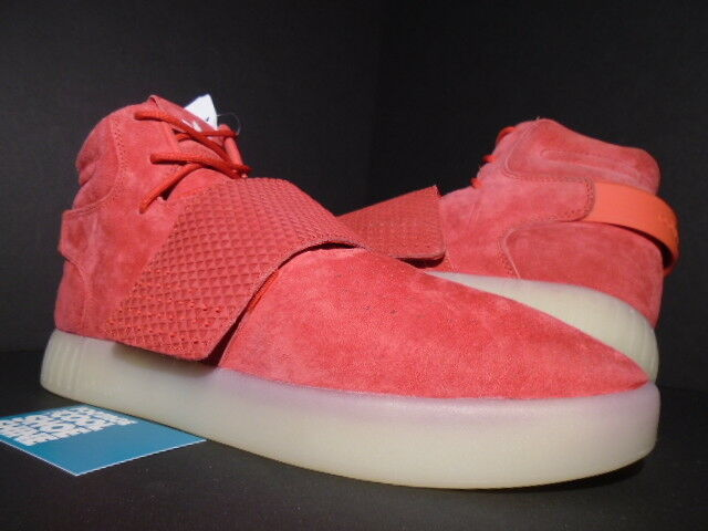 2016 ADIDAS TUBULAR INVADER STRAP RED VINTAGE WHITE ULTRA BOOST BB5039 NEW 10.5