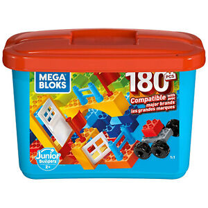 Mega Bloks GJD22 Junior Builder Mini Bulk Tub 180 Piece Large Block Building Set