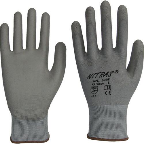 240 Paar Nylon Strick Handschuhe mit PU-Beschichtung grau 1110-000