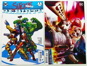 DC-SUICIDE-SQUAD-REBIRTH-1-HARLEY-QUINN-59-Cover-B-VARIANT-Lot-NM-NM