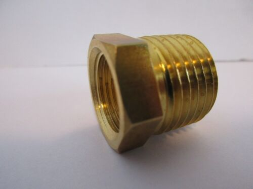 "REDUCER BUSHING 1//2/""MALE X 3//8/"" FEMALE NPT TEMPERATURE SENDING UNIT BUNG #JKR002"