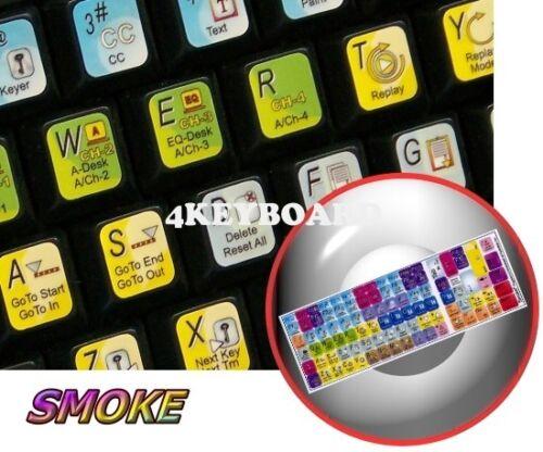 Smoke keyboard stickers