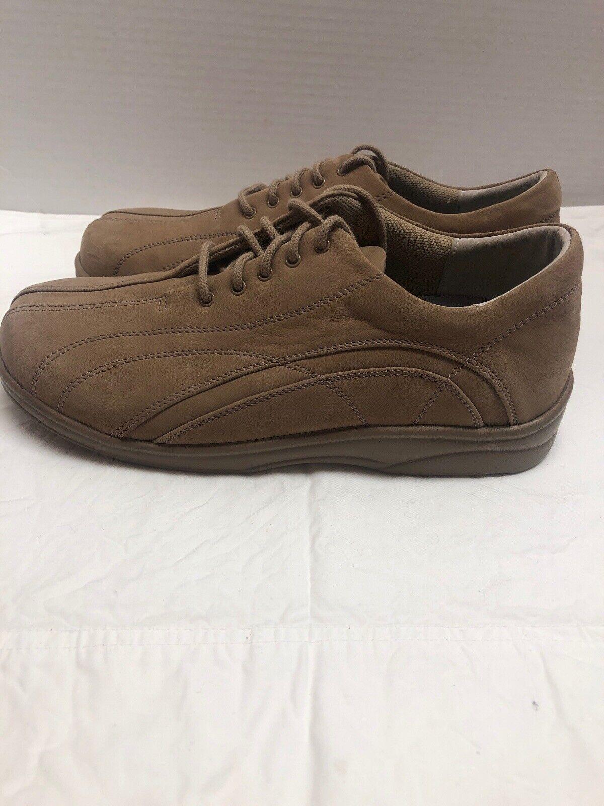 Aetrex Apex Womens Shoe Oxford Nubuck Leather Beige Comfort Diabetic sz 8 Y790W