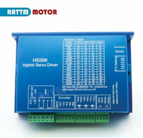 CNC Kit 4.5N.m L82mm Closed Loop Servo Motor Nema34 Stepper HSS86 Hybrid Driver
