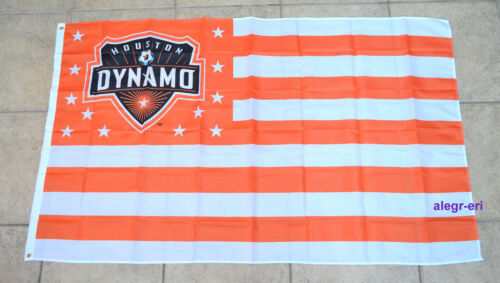 Houston Dynamo Flag Banner 3x5 ft Texas USMNT Football Soccer MLS Bandera