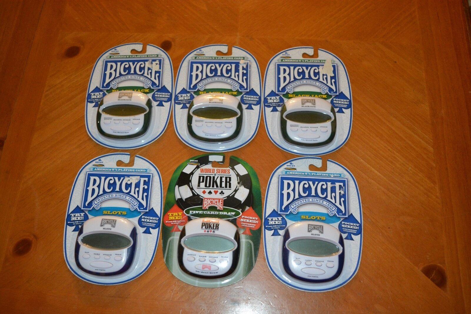 6 nuevo lote de jugando a las Cochetas Bicycle Juegos Electrónicos  negrojack, poker & Ranuras