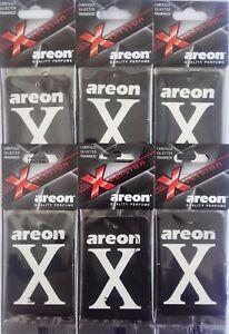Detalles de 6 X Areon X versión Ambientadores Coche Negro Cristal Hogar Oficina Taxi Aroma ver título original