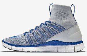 finest selection 63912 64a88 Image is loading New-Nike-Free-Flyknit-Mercurial-Wolf-Grey-Royal-