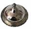 miniature 1 - Superior Silver Quadruple 902 Covered Dome Butter Dish Insert - 3 Pieces