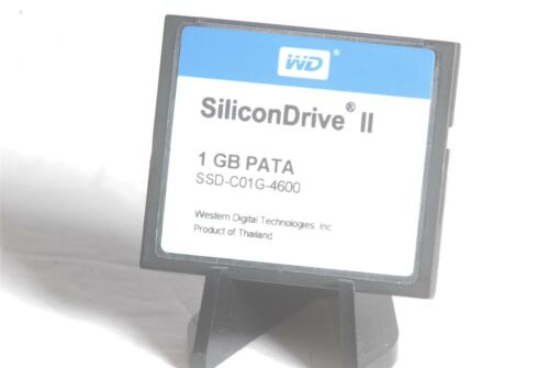 WD SiliconDrive II 1GB PATA SSD-C01G-4600 CF Compact Flash Memory Card