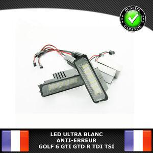 LED-Plaque-Immatriculation-VW-GOLF-4-5-6-7-GTI-GTD-R-TDI-TSI-ANTI-ERREUR-CANBUS
