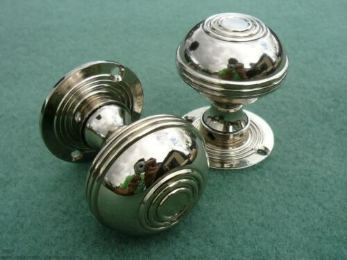 Pair Of Antique Nickel Bloxwich Door Knobs Traditional Antique Style
