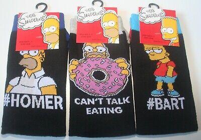 Konstruktiv 3 Pairs Men's The Simpsons Character Socks - U.k. Shoe Size 6-11 - Free Post