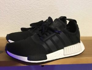 Adidas Nmd R1 Core Black White Reflective S80206 Kids Size 6
