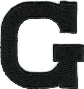 "1/"" Tall Black Monogram Block Letter P Embroidery Patch"