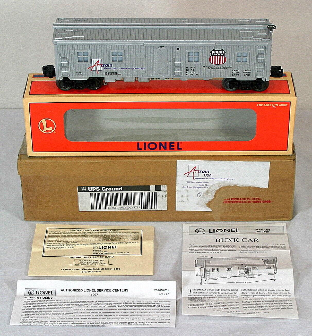 Lionel 52140 Artrain Union Pacific Bunk Car NIB w Orig. Shipping Carton