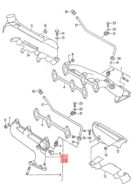 Buy Genuine Volkswagen Exhaust Manifold Nos Audi A6 Avant S6 Quattro