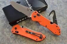 Benchmade 915S-ORG Triage Rescue Knife w/ Seatbelt Hook & Glass Breaker Tip