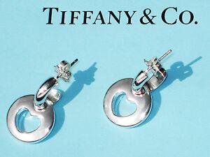 Tiffany-amp-Co-Sterling-Silver-Hoop-Pierced-Stencil-Heart-Drop-Earrings