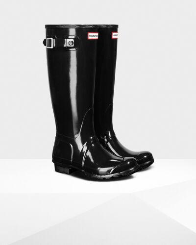 Hunter BOOTS ORIGINAL TALL Rainboots Gloss Colori Assortiti E Taglie Nuovo Con Scatola! vendita!!!