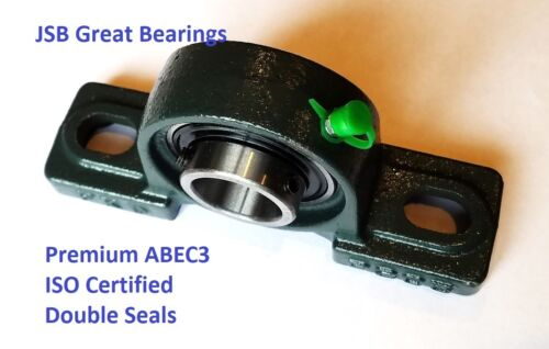 Qty.10 Premium UCP206-20 double seals ABEC3 Pillow block bearings bore 1-1//4