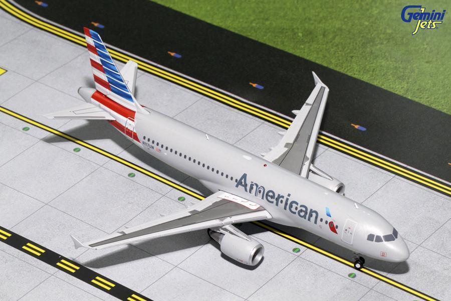 American  Airlines Airbus A320 N117UW Gemini jets G2AAL629 échelle 1 200  service honnête