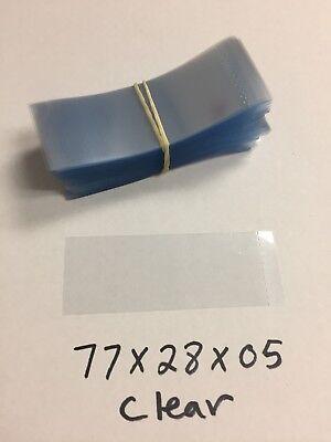 50 Heat Shrink Wrap Band Boston Round Bottle Tamper Seal 86mm x 28mm