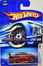 HOT WHEELS 2006 FIRST EDITIONS HONDA CIVIC SI #028 RED FACTORY SEALED