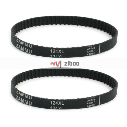 Tooth Single Side Groove Rubber Cogged Timing Belt 2 Pcs 124XL 5.08 mm Pitch 62