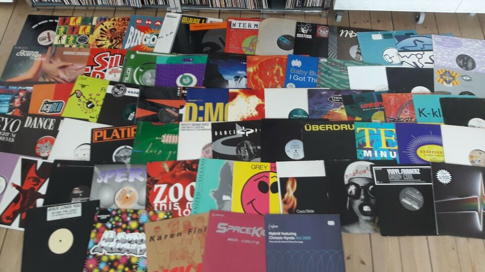 "Maxi-single 12"", Elektronisk lot, Acid techno house etc"