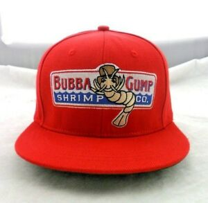Bubba-Gump-Shrimp-Co-Snapback-Hat-Costume-Flat-Peak-Forrest-Gump