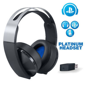 genuine sony playstation 4 platinum wireless headset for. Black Bedroom Furniture Sets. Home Design Ideas