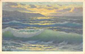 G-Welfers-Sea-Waves-Landscape-Painting-Art-Postcard