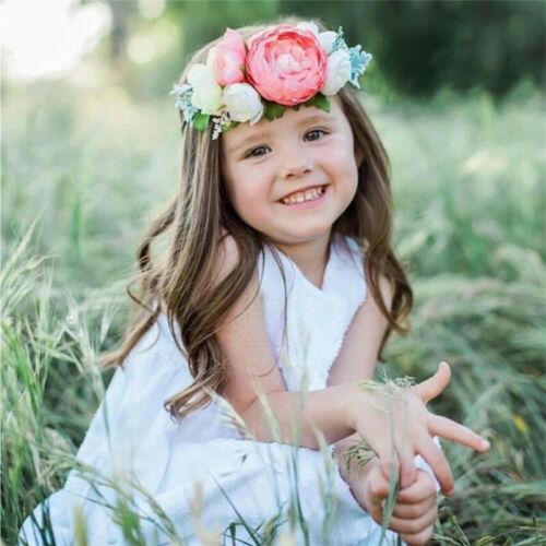 3Pcs Kids Girls Baby Headband Headwear Toddler Bow Flower Hair Band Accessories