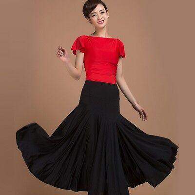 New Women's Tango Salsa Waltz Dance Skirts Dress Quickstep Modern Dance Ballroom
