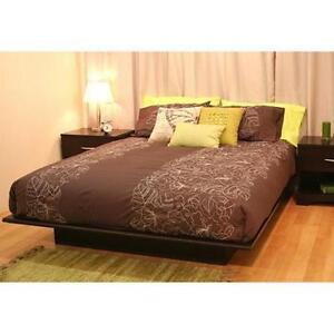 full size platform bed frame bedroom home furniture modern wood guest room new ebay. Black Bedroom Furniture Sets. Home Design Ideas