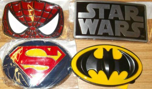 SUPERMAN BATMAN STAR WARS FILM MOVIE CULT METAL BUCKLE FITS 4CM BELT