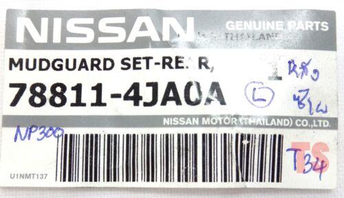 REAR MUD FLAP SPLASH GUARD FOR NISSAN NAVARA NP300 D23 4DR 4WD GENUINE /'15 TRUCK