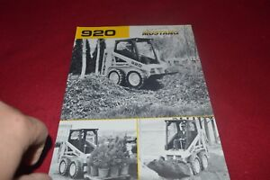 Details about Mustang 920 Skid Steer Loader Dealer's Brochure CDIL